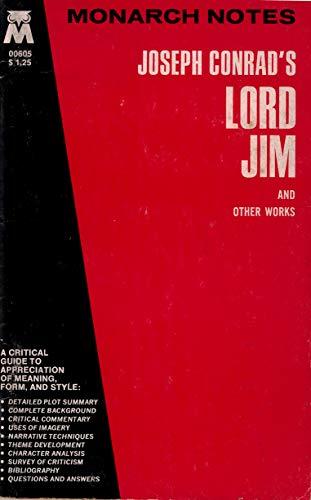 Joseph Conrad's Lord Jim and Other Works (Monarch notes): Conrad, Joseph