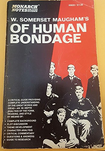 9780671006228: Monarch Notes on Maugham's of Human Bondage (Monarch Notes and Study Guides)