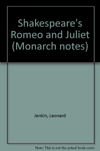 """9780671006433: Shakespeare's """"Romeo and Juliet"""" (Monarch notes)"""