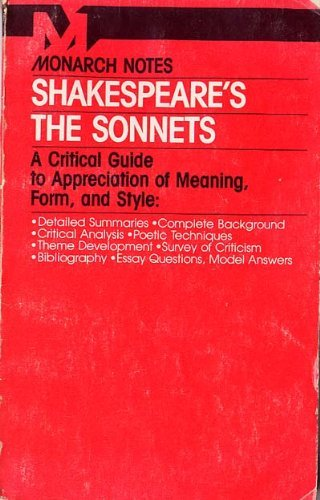 9780671006532: Shakespeare's the Sonnets (Monarch notes & study guides)