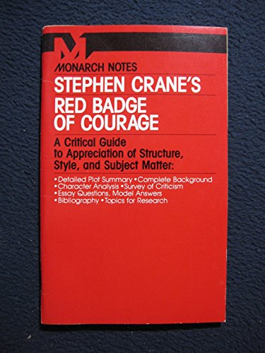 9780671006600: Stephen Crane's Red Badge of Courage (Monarch Notes)