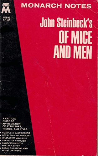 "9780671006938: John Steinbeck's ""of Mice and Men"" (Monarch notes)"