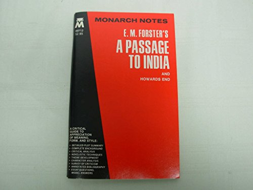 9780671007126: E. M. Forster's a Passage to India and Howards End