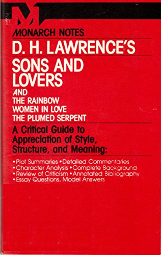 9780671007164: D.H. Lawrence's Sons and Lovers (Monarch notes)