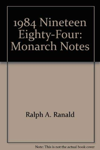 9780671007195: George Orwell's 1984 (Monarch notes)