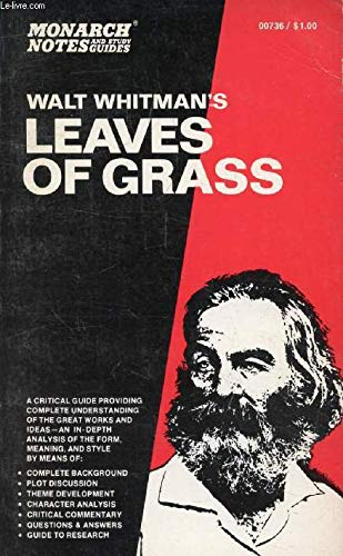 9780671007362: Monarch Notes on Walt Whitman's Leaves of Grass
