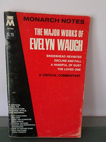 Major Works of Evelyn Waugh (Monarch notes): Brown, Richard K.