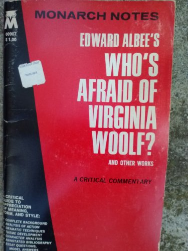 9780671009076: Edward Albee's Who's Afraid of Virginia Woolf and Other Works (Monarch notes)