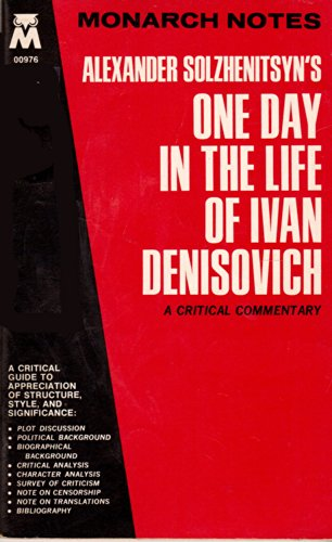 9780671009762: Alexander Solzhenitsyn's One Day in the Life of Ivan Denisovich