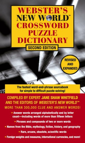 9780671009779: Webster's New World Crossword Puzzle Dictionary