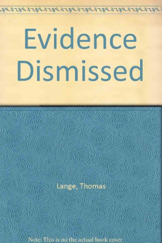 9780671019389: Evidence Dismissed Special Printing