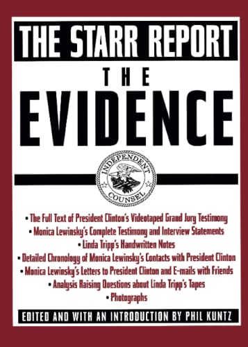 9780671034993: The Evidence: The Starr Report