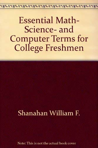 9780671184353: Essential Math, Science, and Computer Terms for College Freshmen