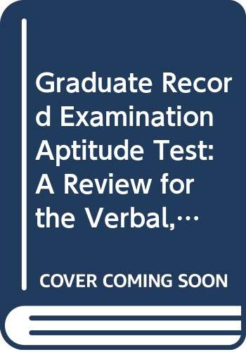 9780671189921: Graduate Record Examination Aptitude Test: A Review for the Verbal, Math, and Analytical Ability Parts of the Test