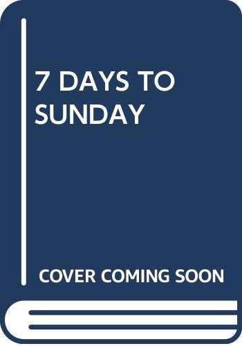9780671201029: 7 Days to Sunday: Crisis Week with the New York Football Giants