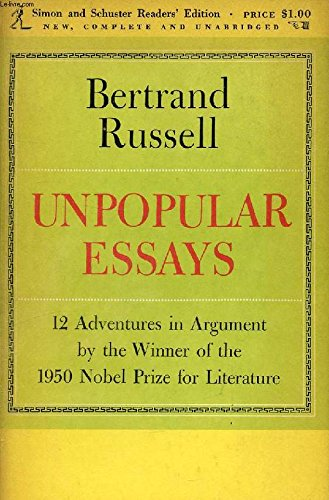 9780671202538: Unpopular Essays
