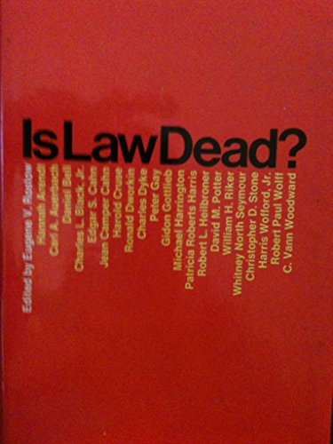9780671208660: Is Law Dead?