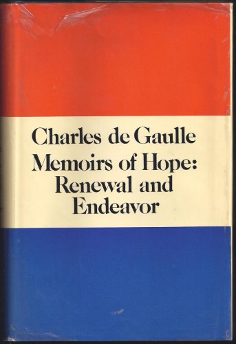 9780671211189: Memoirs of Hope: Renewal and Endeavor