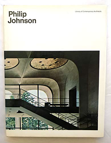 PHILIP JOHNSON, LIBRARY OF CONTEMPORARY ARCHITECTS