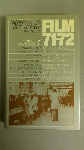 9780671213589: Film 71/72: An Anthology By the National Society of Film Critics