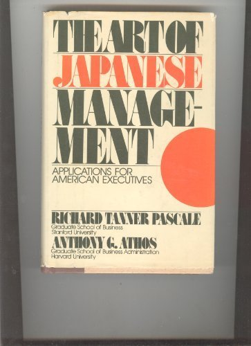 9780671225391: The Art of Japanese Management: Applications for American Business