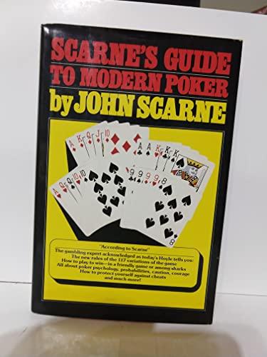 9780671247966: Scarne's Guide to Modern Poker