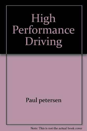 9780671271176: High Performance Driving