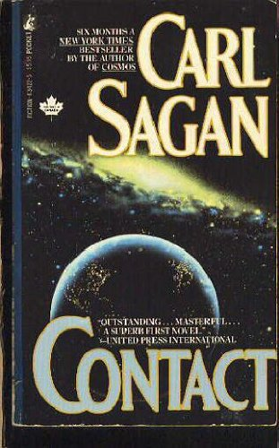 Contact 9780671434229 Pulitzer Prize-winner Carl Sagan imagines the greatest adventure of all... the discovery of an advanced civilization in the depths of space. December, 1999, a multinational team journeys out to the stars, to the most awesome encounter in human history. Who-- or what-- is out there? In Cosmos, Carl Sagan explained the universe. In Contact, he predict its future-- and our own.