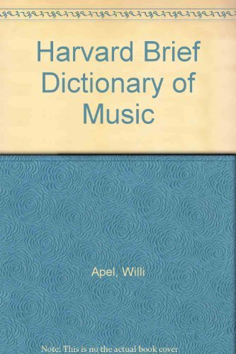 9780671434755: Harvard Brief Dictionary of Music