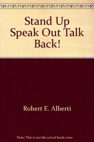 9780671442071: Stand Up Speak Out Talk Back!