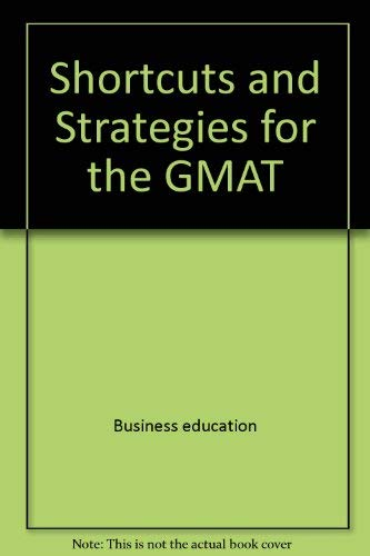 9780671448189: Gary R. Gruber's Shortcuts and strategies for the GMAT (Monarch's shortcut series)