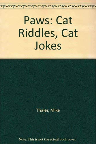 PAWS: Cat Riddles, Cat Jokes and CARTOONS. [ CAT as JAWS Spoof / Parody Cover ]: Thaler, Mike.