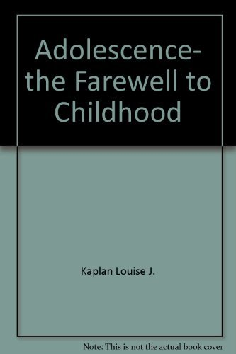 9780671453954: Adolescence, the farewell to childhood