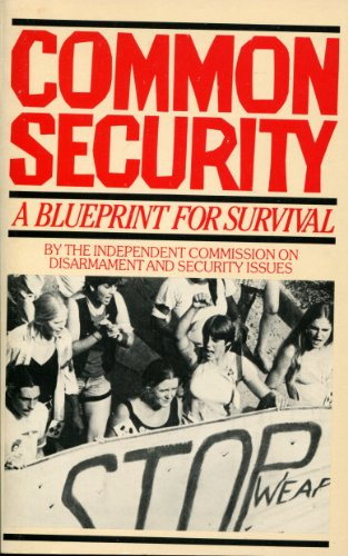9780671458799: Common security: A blueprint for survival