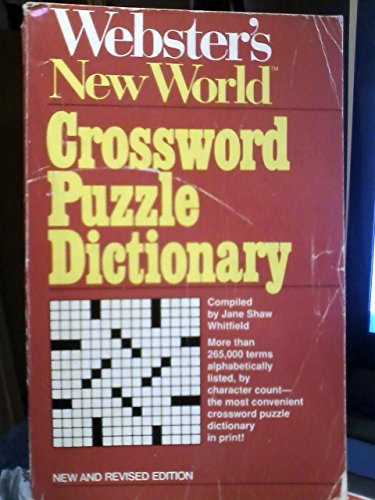 9780671468705: Webster's New World Crossword Puzzle Dictionary