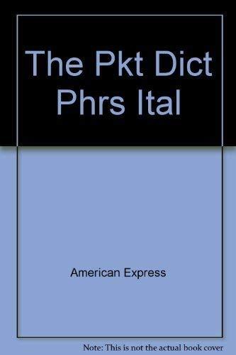 9780671470319: American Express International Traveler's Pocket Italian Dictionary and Phrase Book