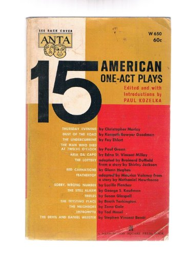 9780671470364: FIFTEEN AMERICAN ONE-ACT PLAYS