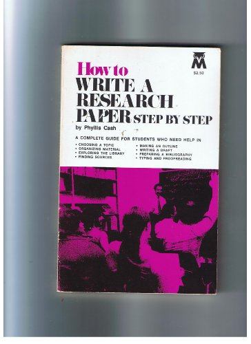 9780671470937: How to Write a Research Paper Step by Step (A Monarch Book)