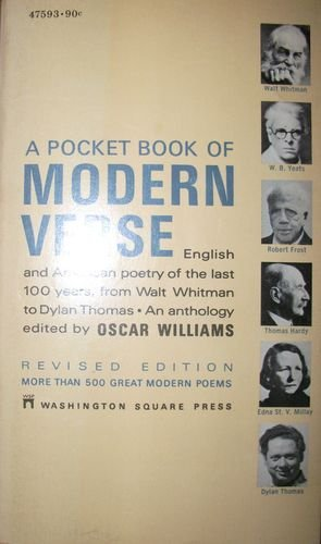 A Pocket Book of Modern Verse: English: Williams, Oscar