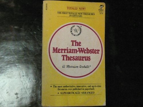9780671476212: The Merriam-Webster Thesaurus