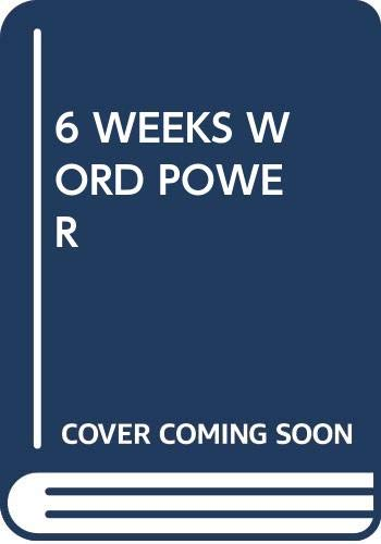 9780671477615: six weeks to words of power