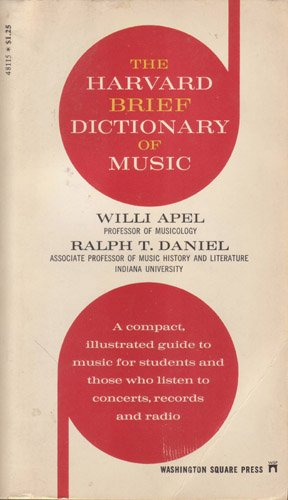 9780671478292: The Harvard Brief Dictionary of Music