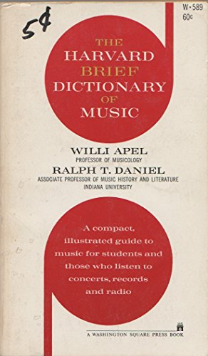 9780671497606: The Harvard Brief Dictionary of Music