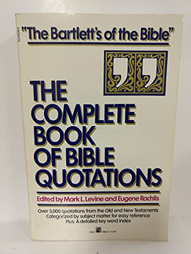 9780671498641: The Complete Book of Bible Quotations