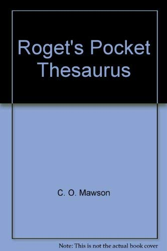 9780671504700: Roget's Pocket Thesaurus