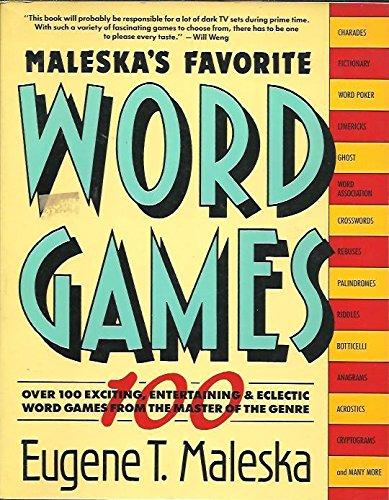9780671504977: Maleska's Favorite Word Games