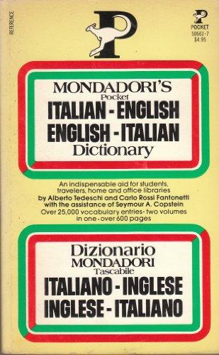Mondadori's Pocket English-Italian Italian-English Dictionary: Dizionario Mondadori