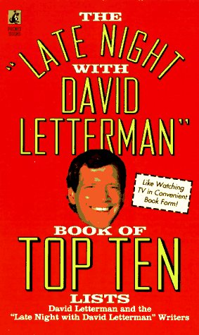 9780671511432: The Late Night with David Letterman Book of Top Ten Lists