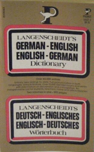 Langenscheidt's German - English, English - German