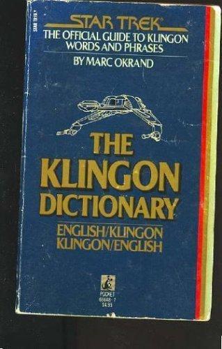 Star trek the klingon dictionary pb (1985 pocket novel) 1st.
